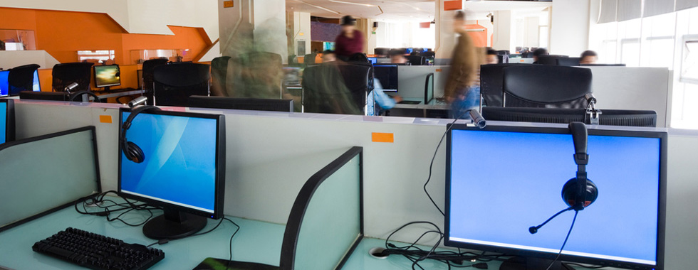Office equipment, desks and computers