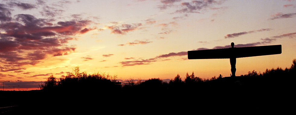 Angel of the North at sunset